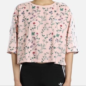 Adidas x Urban Outfitters UO Cropped Floral T-Shirt - NWOT!
